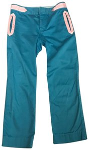 Marc Jacobs Straight Pants Blue and Pink