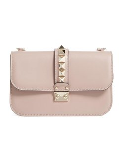 40fe282dd0 Added to Shopping Bag. Valentino Shoulder Bag. Valentino Garavani Leather  Lock Rockstud Medium Poudre ...