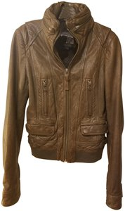 Mackage Olive Green Leather Jacket