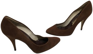 Sergio Zelcer Made Spain Brown suede leather inc heels leather soles classic Pumps