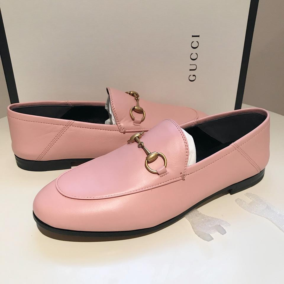 054306c4ccdd Gucci Light Pink Horsebit Brixton Princetown Loafer Slide Mule Flats ...