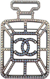 Chanel Chanel Number 5 Perfume Bottle Iridescent Crystal Pin Brooch