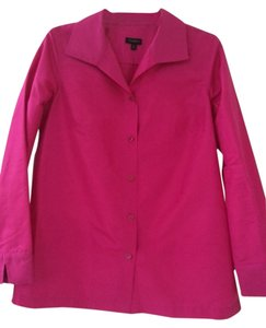 Talbots Silk Tunic Button Down Shirt Pink