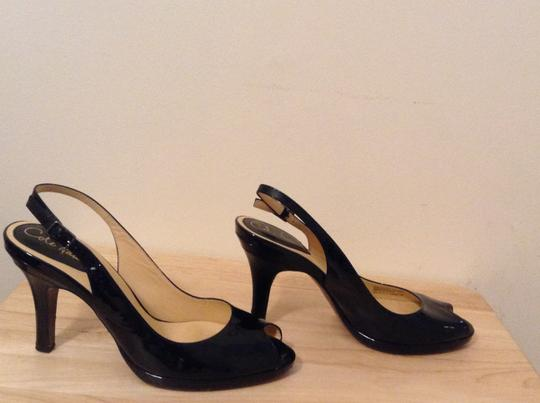 Cole Haan Classic Patent Leather Black Sandals