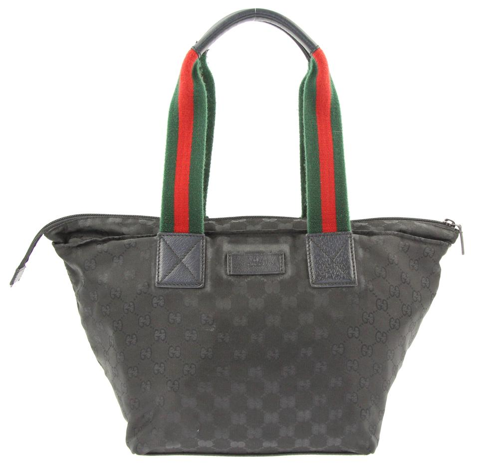 87c9aea020d859 Gucci Web Gg Black Canvas Tote - Tradesy