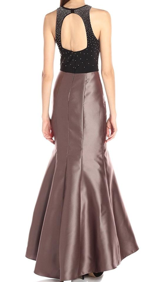 0ba2a316 Xscape Brown New Womens Colorblock Embellished Mermaid Gown Long Formal  Dress Size 6 (S) - Tradesy