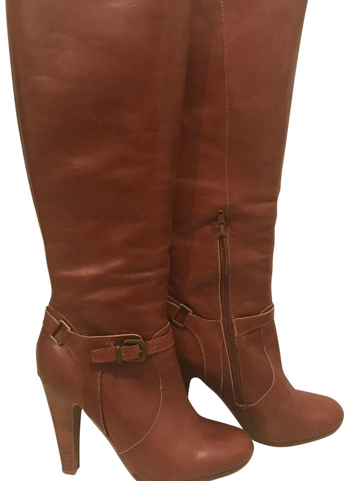 womens Leather Red Brown Leather womens Boots/Booties At a lower price d7f247