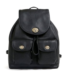 Coach 37582 Turnlock Rivets Pebble Leather Backpack