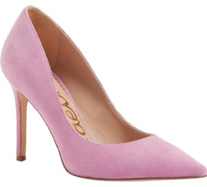 38b0b4677a62 Sam Edelman Suede Leather Stiletto Pointed Toe Pink Pumps
