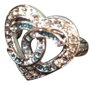 Chanel New with tag 16 k heart crystal ring EU54/US 7