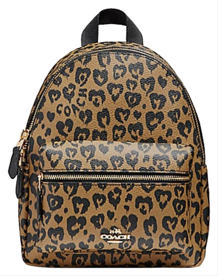 7caa144750d2 Coach Mini Charlie with Wild Heart Print F24208 Light Gold .