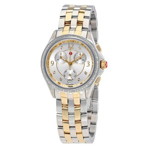 Michele $2200 NWT BELMORE CHRONO DIAMOND, TWO TONE DIAMOND DIAL MWW29B000006