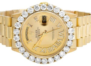 Rolex Presidential 18K Yellow Gold 36MM Day-Date 18238 Diamond Watch 6.75 Ct