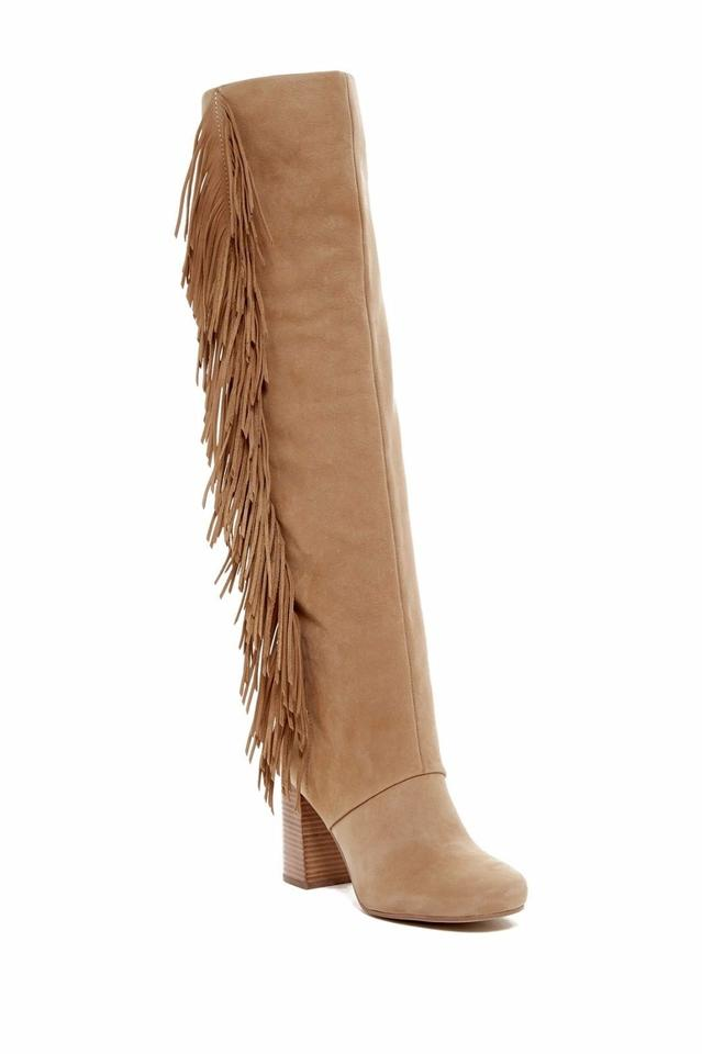 dfd43a717a6 Sam Edelman Tan Taylan Tall Fringe Leather Otk Over The Knee Camel 6  Boots Booties Size US 6.5 Regular (M