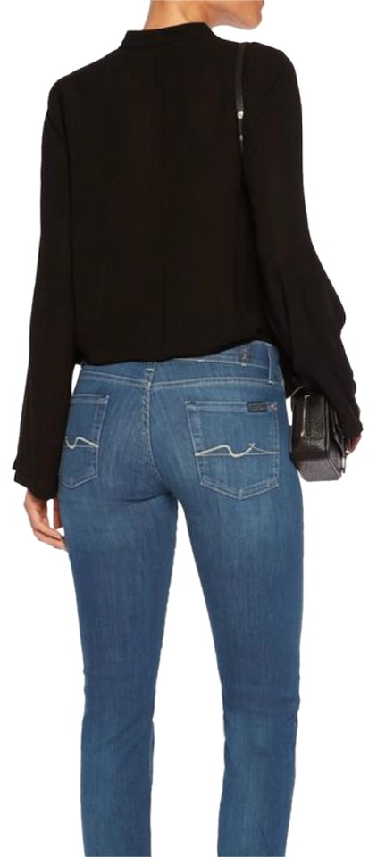 4cd6757e0cc 7 For All Mankind Blue Dark Rinse Roxanne Skinny Jeans Size 27 (4