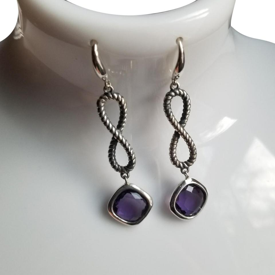 earrings oyster eagle spiny shop purple silver gallery