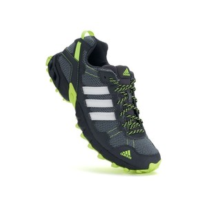adidas Black, lime green. Athletic
