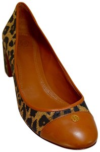 Tory Burch Well Padded Lace Royal Tan/Black Pumps