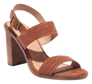 Madewell Leather Block Heel Brown Sandals