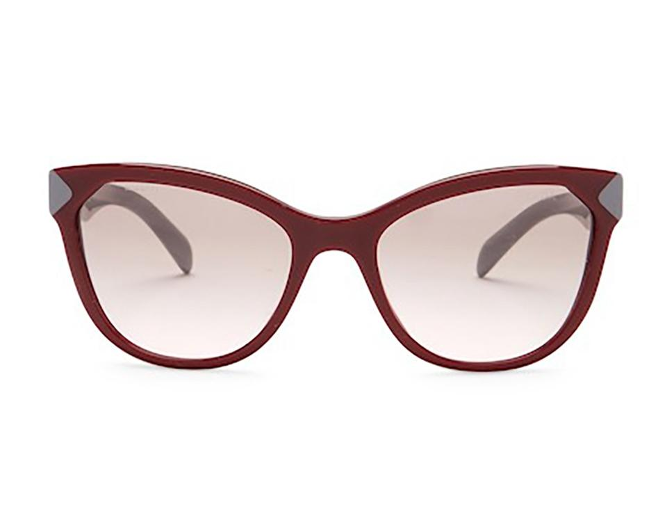 9bfac46fefc86 Prada Red Gray Women s Cat Eye Plastic Frame Sunglasses - Tradesy