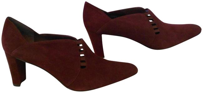 """Item - Purple """"Lawyer"""" Cut Out Accented Suede Pumps Size US 9.5 Regular (M, B)"""