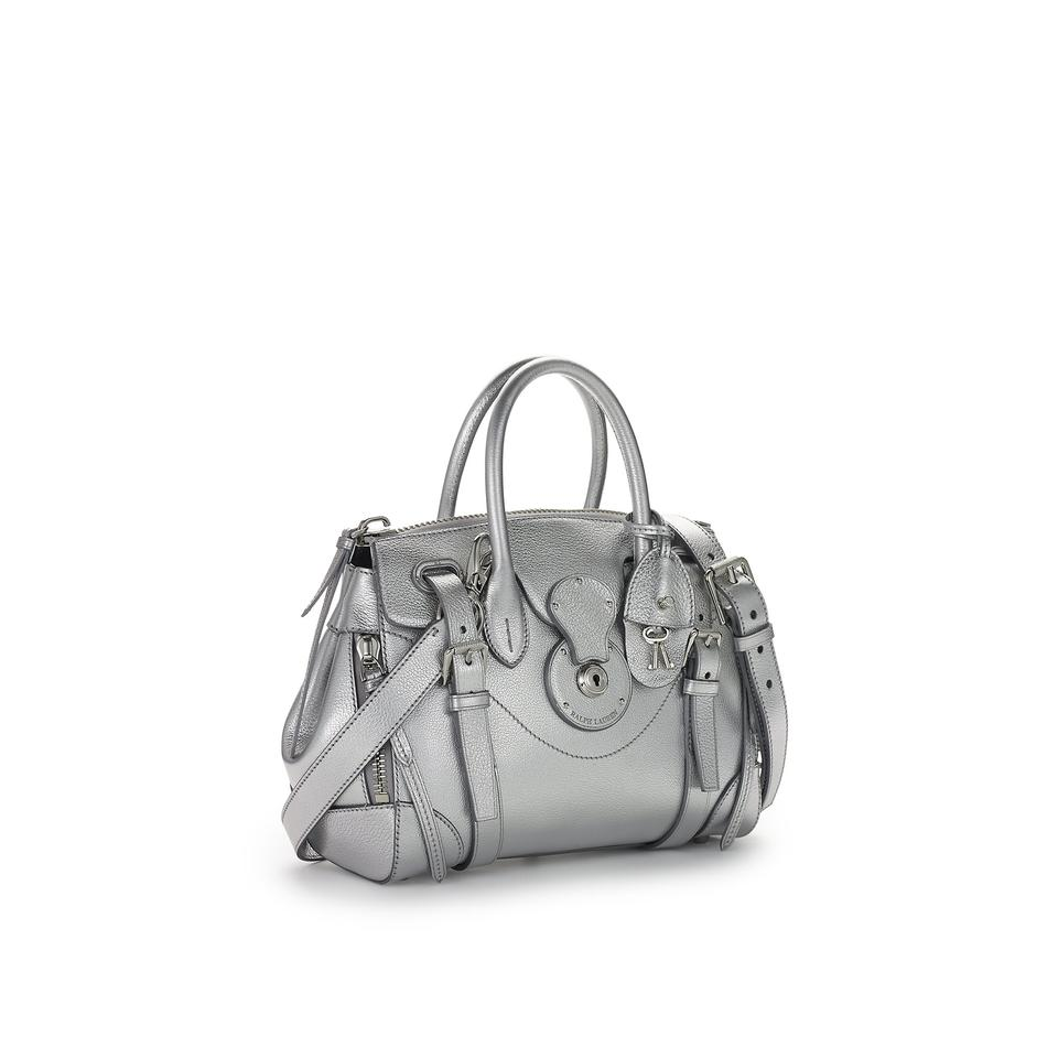 6a5eaf3f9510 Ralph Lauren Soft Ricky Zip 27 Silver Leather Satchel - Tradesy