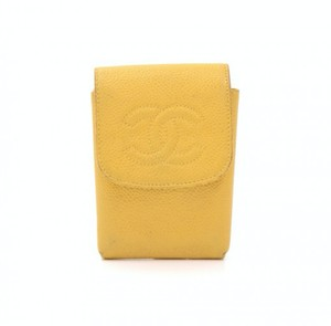 Chanel Chanel Yellow Caviar Leather Small Coin Case Pouch CB967