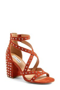 Steve Madden Studded Suede Leather Srappy Rust Sandals
