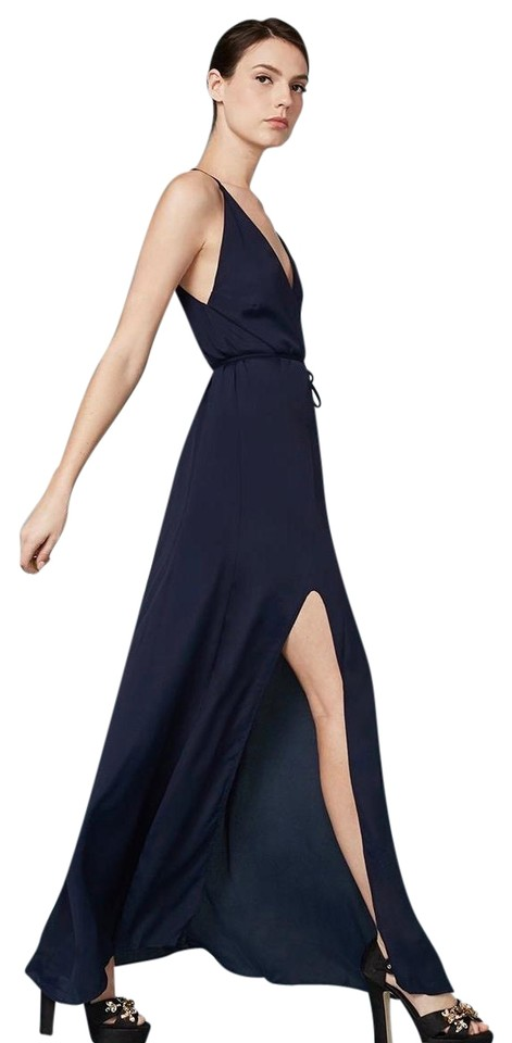 Brand new Reformation Navy Blue Citrine Sapphire Maxi Long Cocktail Dress  YV86