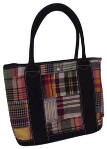 J.Crew Tote in Multicolor with navy blue trim