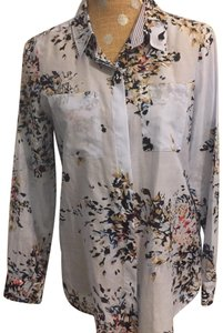 White House | Black Market Button Down Shirt Blue and multi