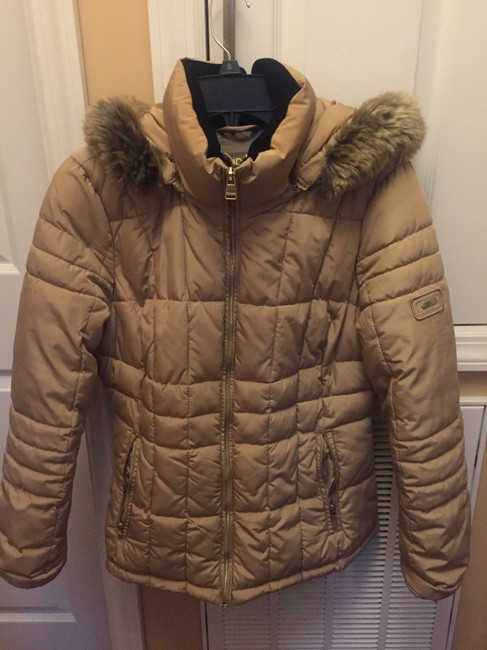 Item - Tawny Owl Tan Faux-fur-trim Quilted Coat Size 4 (S)