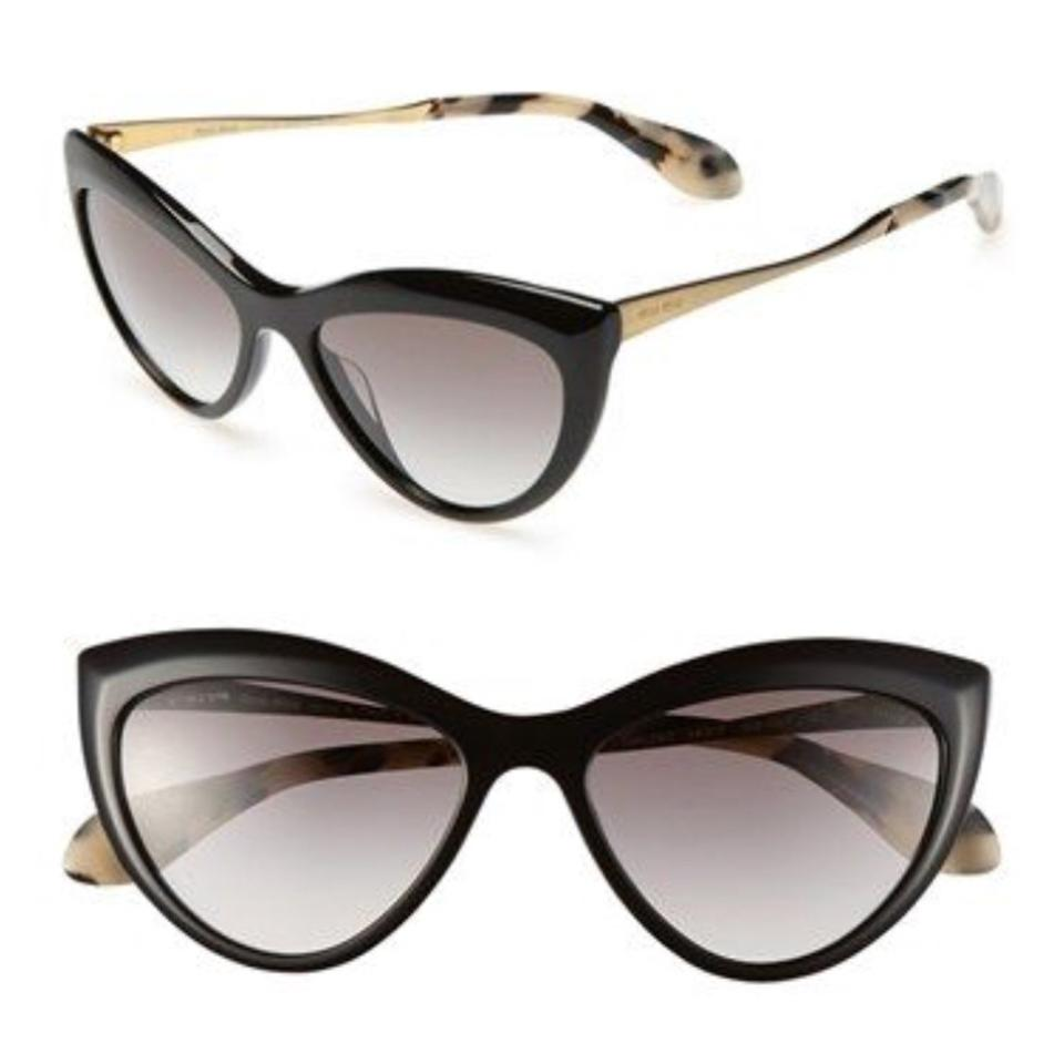 6f5d6f93c17 Miu Miu Black Cat Eye Sunglasses - Tradesy