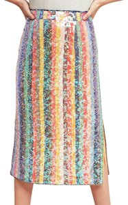 Anthropologie Sequined Palette Holly Willoughby Skirt Multi-Color