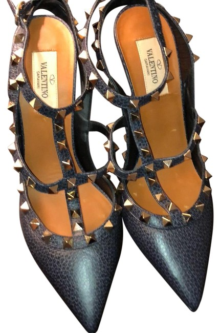 Item - Navy Platforms Size US 9 Narrow (Aa, N)