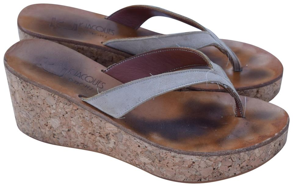 171b1e582d7f K. Jacques Off White Diorite Wedges Size US 7 Regular (M