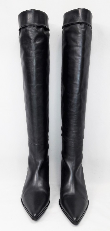 7b650eac0c Gucci Black Leather Pointed Toe Kitten Heel Knee High Boots/Booties Size EU  35.5 (Approx. US 5.5) Wide (C, D) - Tradesy
