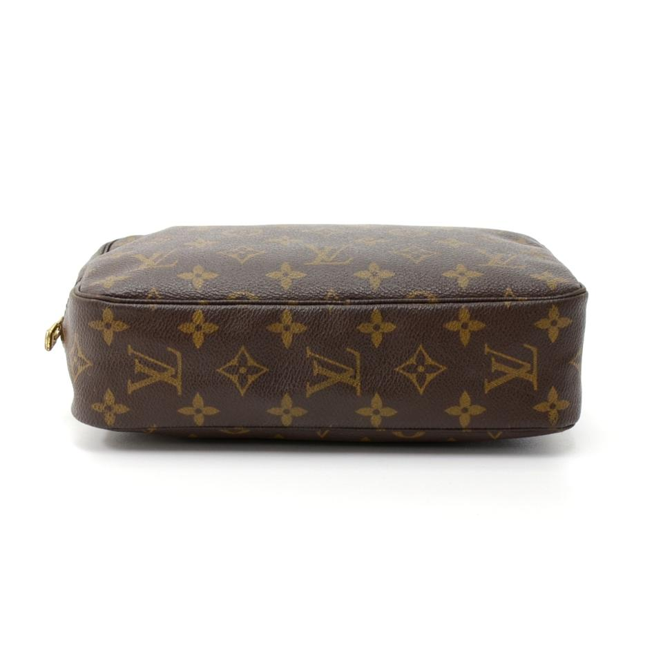 louis vuitton brown trousse vintage toilette 23 monogram cosmetic bag tradesy. Black Bedroom Furniture Sets. Home Design Ideas