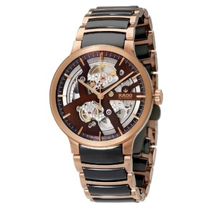 Rado Centrix Brown Skeleton Dial Automatic Men's Watch