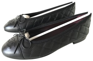 Chanel Ballerina Quilted Black Flats