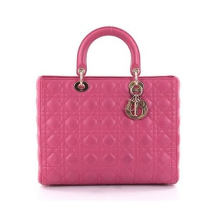 Dior Lambskin Christian Lady Tote in Pink