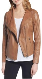 Trouvé Leather Moto Zipper Cropped Motorcycle Jacket