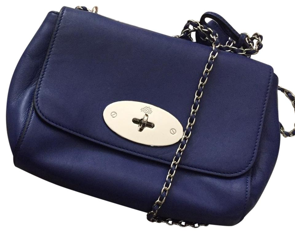 d7288eca56b5 Mulberry Lily Blue Lambskin Nappa Leather Shoulder Bag - Tradesy