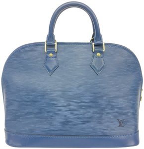 Louis Vuitton Lv Epi Alma Pm Tote in blue