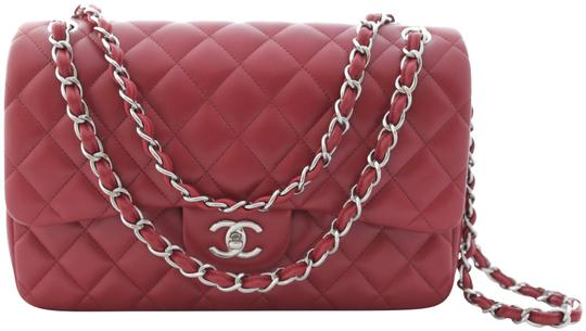 Preload https://item1.tradesy.com/images/chanel-classic-flap-new-shw-quilted-chain-cc-turnlock-true-red-lipstick-lambskin-leather-shoulder-ba-22648205-0-1.jpg?width=440&height=440