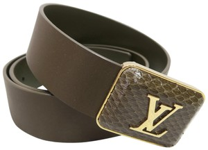 Louis Vuitton Louis Vuitton Leather 85/34 Belt