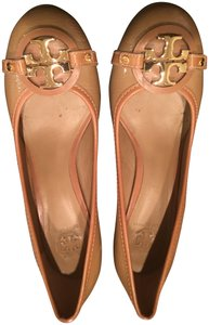 Tory Burch Patent Leather Gold Hardware Sand Pumps
