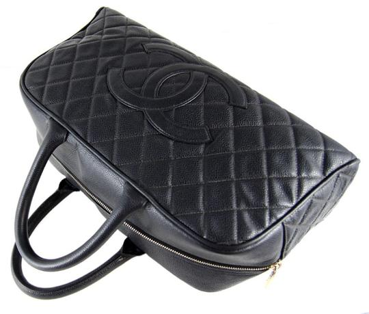 Chanel Vintage Caviar Bolwer Satchel in Black
