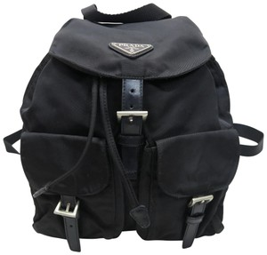 Prada Leather-trimmed Tessuto Nylon Backpack