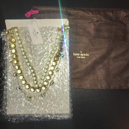 Kate Spade New Kate Spade gold plated 3-row embellished statement necklace